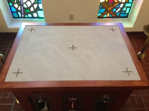 The Altar Stone of the Daily Mass Altar