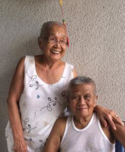 My grandparents, Dionisia and Anacleto Flores,  on their last Christmas together (2013).