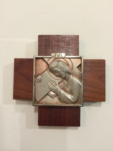 The Second Station (Christ Carries the Cross) at Saint Julie's in Owingsville